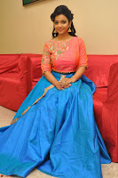 Nithya Shetty in Orange Choli at Kalamandir Foundation 7th anniversary Celebrations ~  Actress Galleries 092.JPG