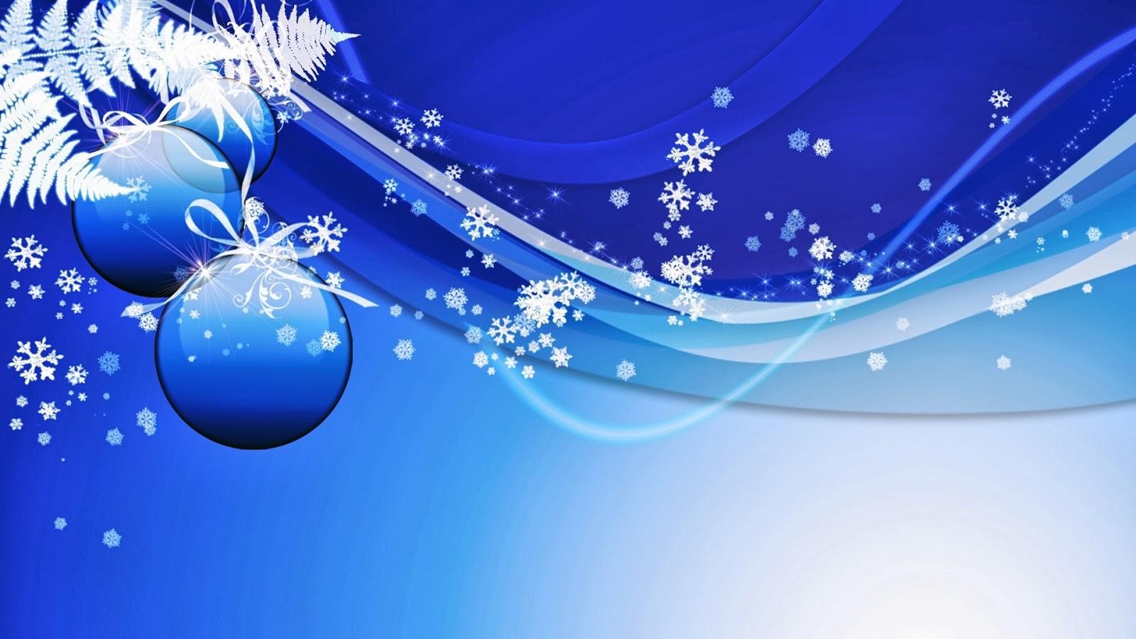 1b0ee276638a7 Wallpapers de Navidad - Feliz Navidad - Esferas navideñas azules con fondo  azul