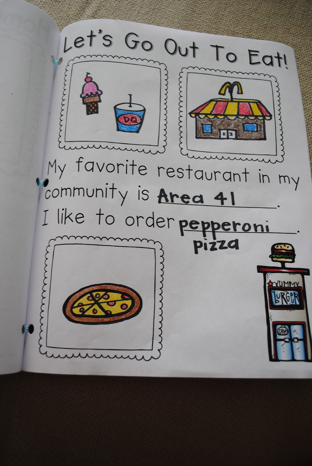 First Grader Last My Community Scrapbook Project