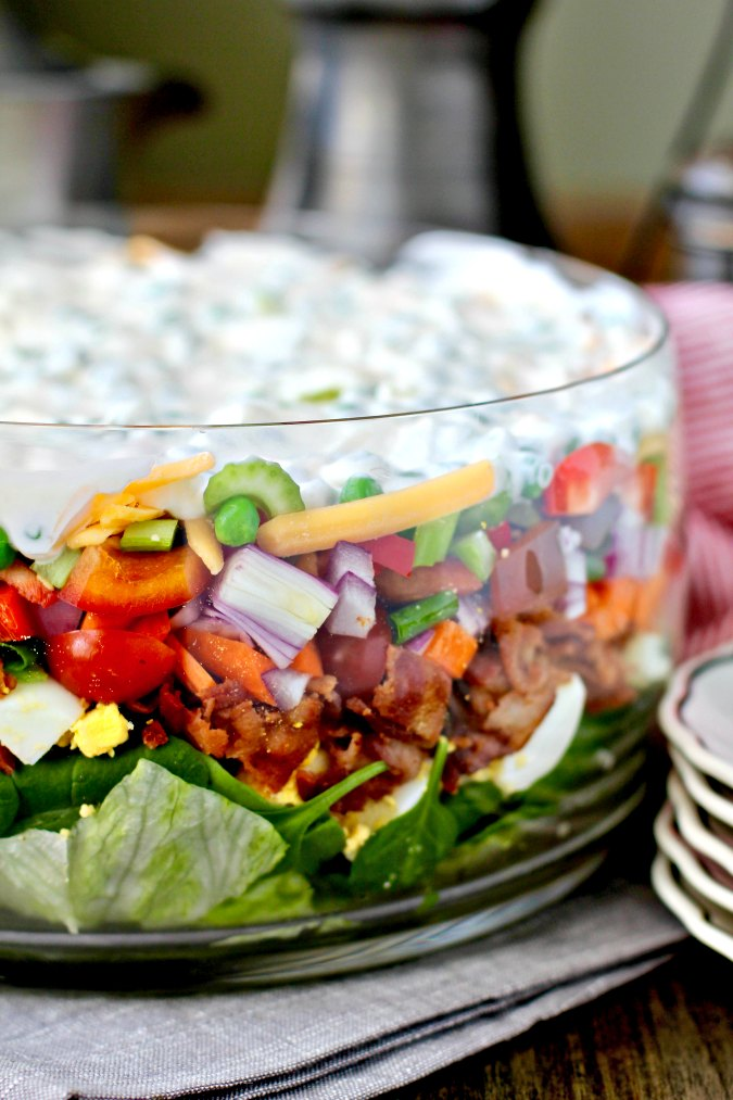 The Ultimate Layered Salad #salad #layeredsalad