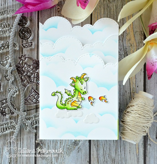 Fairytale Tri-fold Card by Tatiana Trafimovich | Knight's Quest,Stamp Set by Newton's Nook Designs #newtonsnook #handmade