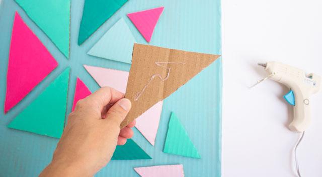 Cardboard crafts - turn a box into wall art!