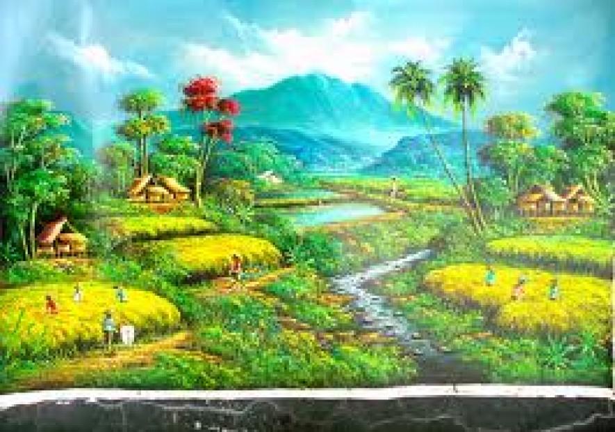 Gambar Lukisan Pemandangan Kampung Pic 20 Devdas Angers