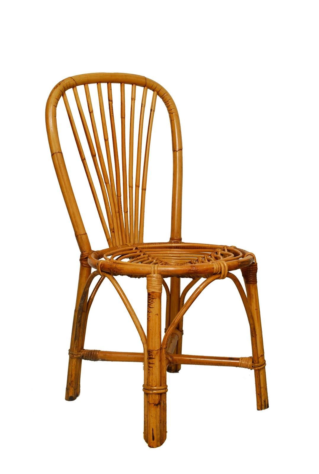 Sillas de mimbre mediados siglo silla de mimbre por - Sillas de mimbre ikea ...
