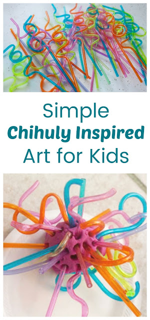Easy Chihuly Inspired Sculptures for Kids