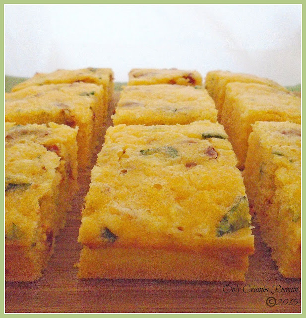 Corn Bread with sun-dried tomatoes, mature cheddar & Basil