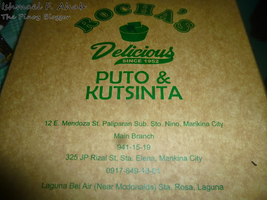A box of Rocha's puto and kutsinta