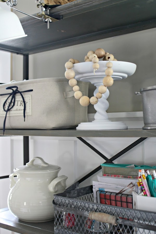 Wood beads in decor