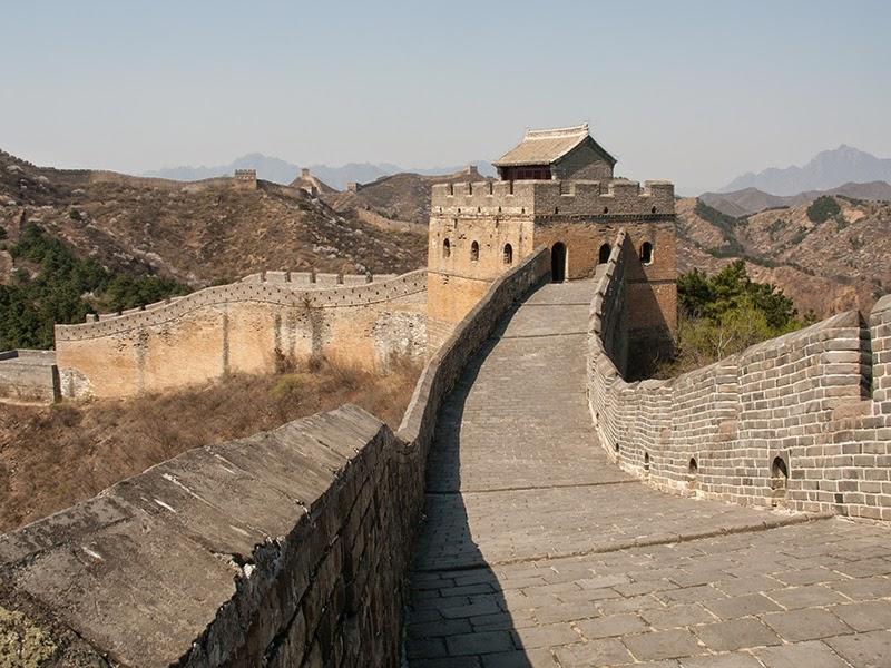 Une partie rénovée de la Grande Muraille de Jinshanling