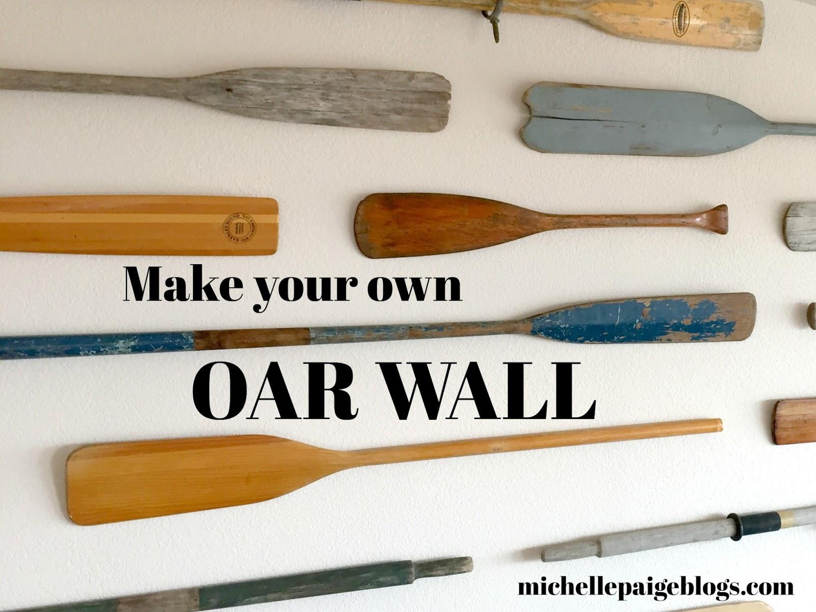 Vintage Oar Wall
