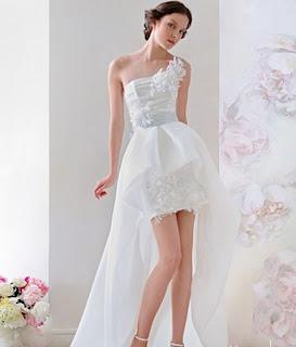Vestidos de novia largos y cortos