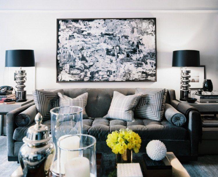 Decoraci n de salas en blanco y negro salas con estilo for Deco sala en blanco y negro