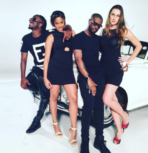 0 P-Square shares new photos from a set in South Africa