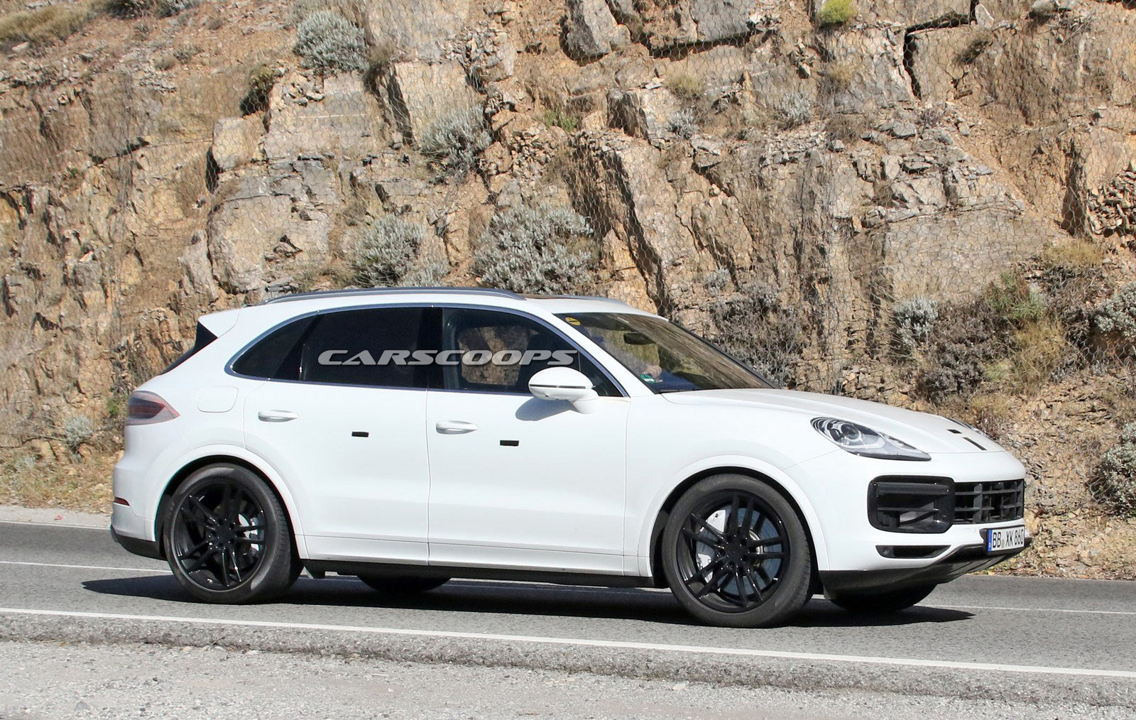 2018 porsche cayenne spied looking production ready. Black Bedroom Furniture Sets. Home Design Ideas