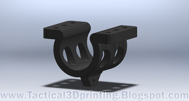 Sam Yang 357 Barrel Bipod Mount v5 bottom Solidworks CAD