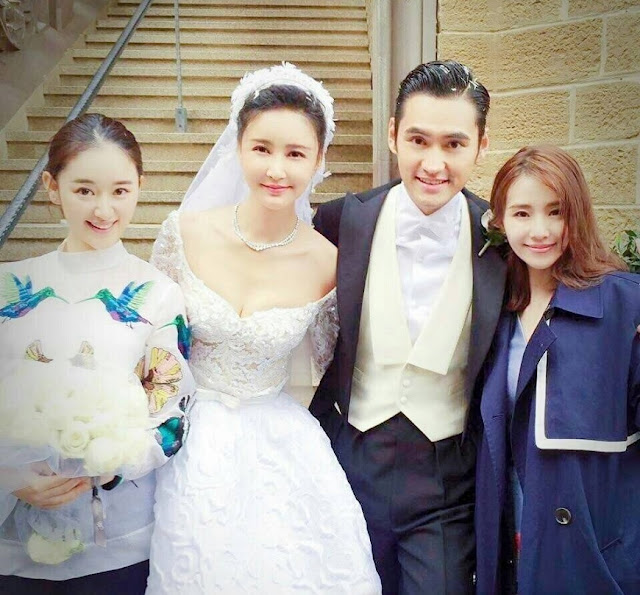 Liu Shi Shi in Yuan Hong and Zhang Xinyi's wedding