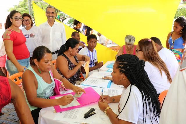 Itaparica recebe serviços gratuitos da 1ª Caravana da Justiça Social do ano