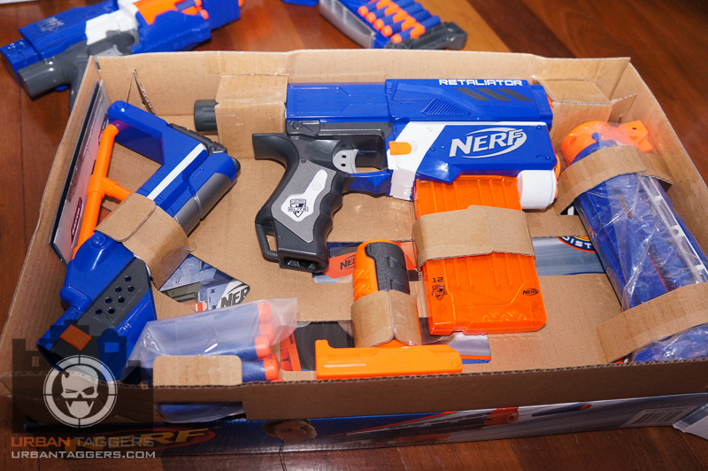 Grey Triggers = International Version blasters? (Photos)