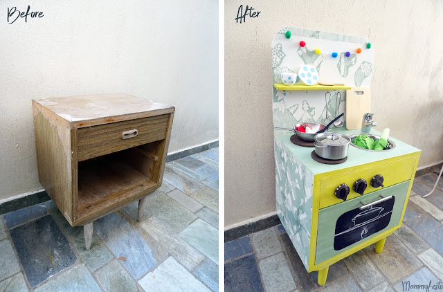 Before&After: DIY kitchen toy from a side table