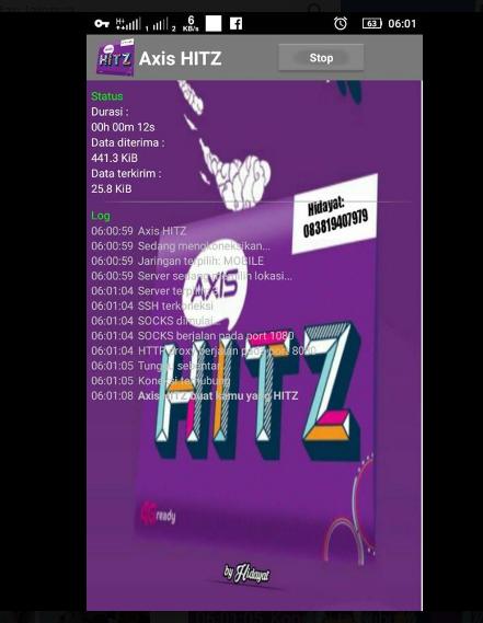 Trik Internet Gratis Axis Hitz 2020 dengan Http Injektor