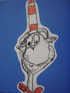 It's just an image of Playful Cat In The Hat Directed Drawing