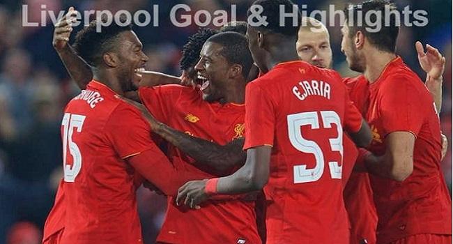 cuplikan gol liverpool vs southampton 3-0