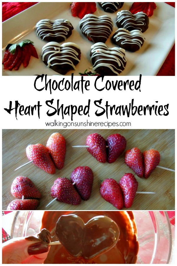 Chocolate Covered Heart Shaped Strawberries from Walking on Sunshine.