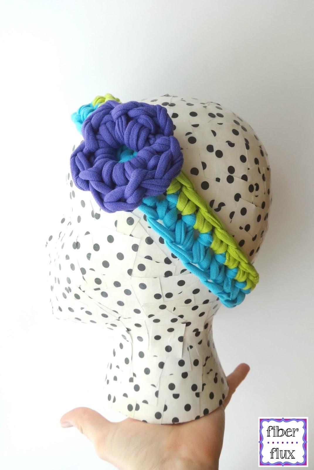 Fiber Flux: Free Crochet Pattern...T-Shirt Yarn Headband!