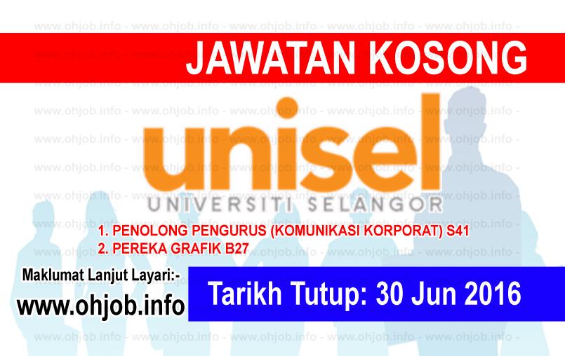 Jawatan Kerja Kosong Universiti Selangor (UNISEL) logo www.ohjob.info jun 2016