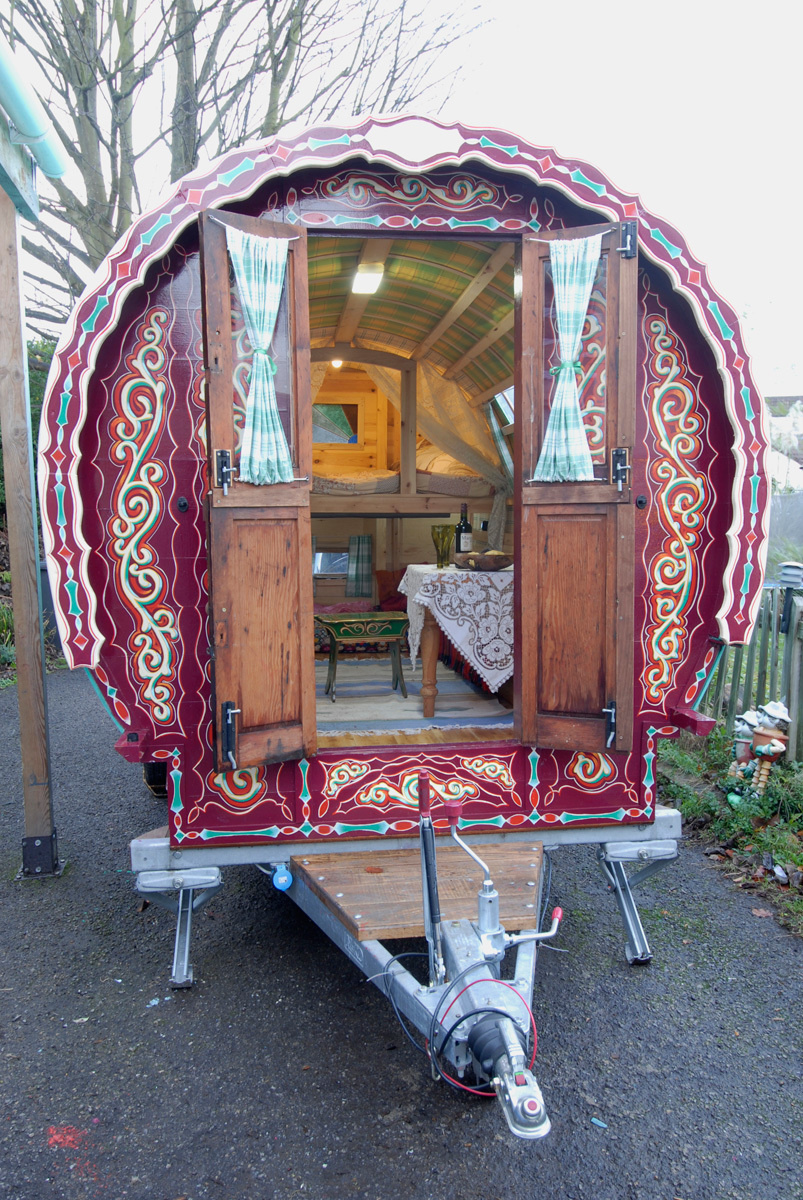 If you wish, you can have a wagon shipped to California by sea for £2450 ($3500), which includes insurance and import duties. - These Gypsy Caravans Are All Your Hippy-Dreams Come True, Especially The Inside.