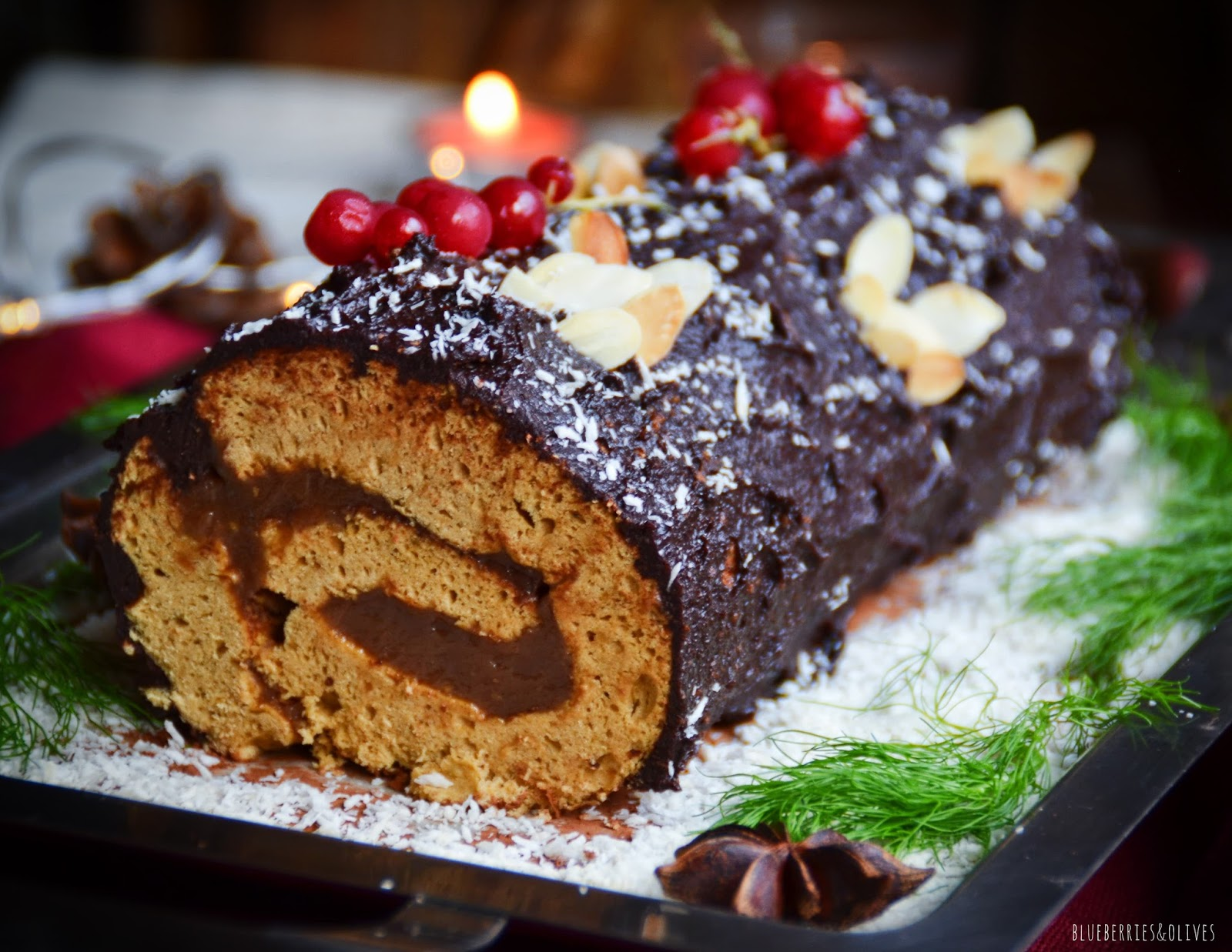 COCOA AND CHESTNUT CHRISTMAS YULE LOG