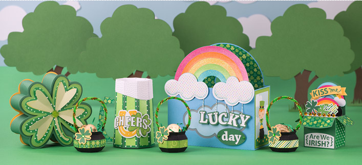 SVGCuts, SVG, template, cutting files, St. Patrick's Day, Feeling Lucky