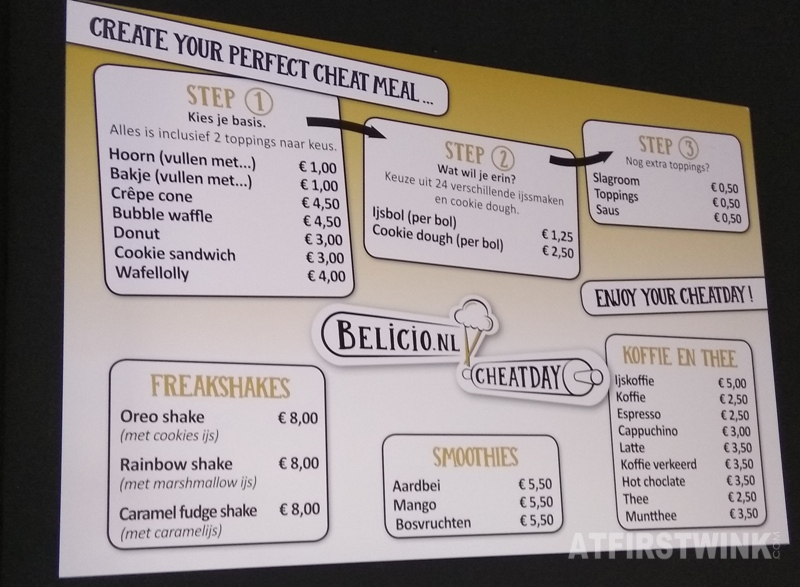 Belicio Cheatday Koopgoot Rotterdam pop-up store menu prices