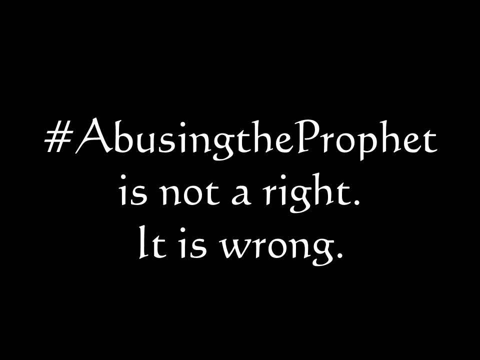 Abuse is not a right. It is wrong.