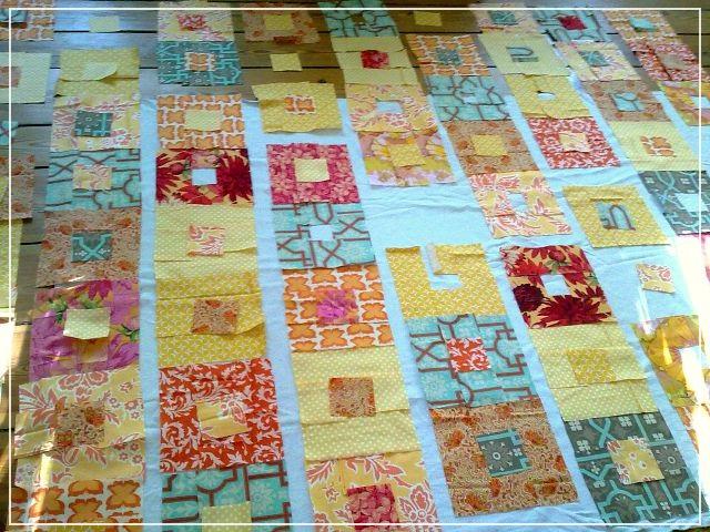 Puppilalla : Simple Framed Squares Patchwork Quilt - Indian Summer : patchwork quilt squares - Adamdwight.com