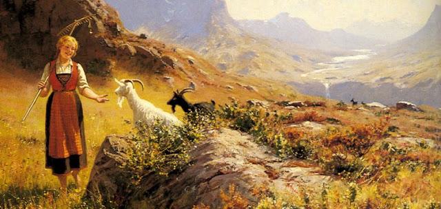 Dahl_Hans_An_Alpine_Landscape_With_A_She