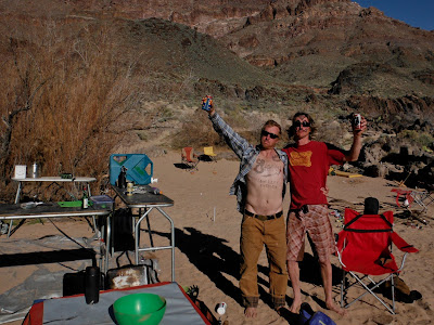 Stanley Low Life's for life!, chris Baer, and Jed Policky in the Grand Canyon of the colorado