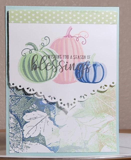 Sunny Studio Stamps: Pretty Pumpkins Autumn Greetings Customer Card by Marla Harris