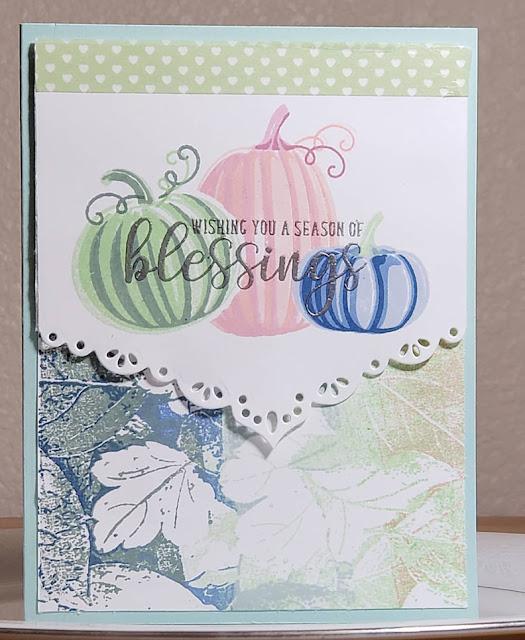 Sunny Studio Stamps: Pretty Pumpkins Autumn Greetings Customer Card by Marla Harris