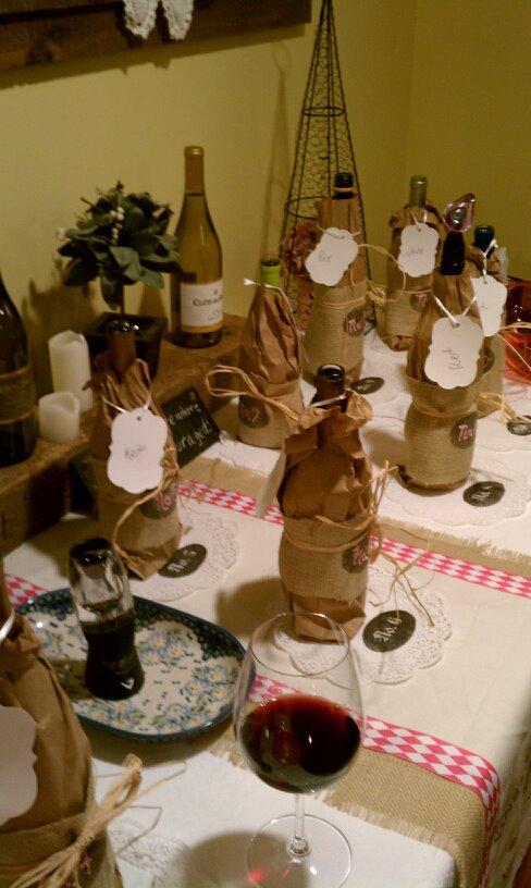 Giraffe Legs Wine Tasting Party