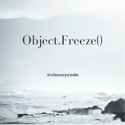 object.freeze in javascript to make immutable objects