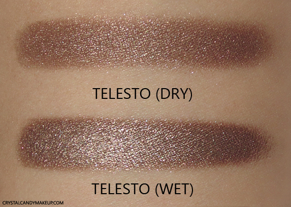 NARS Fall 2015 Color Collection Dual-Intensity Eyeshadow Telesto Review Swatch Wet Dry