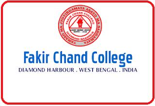 Fakir Chand College, Diamond Harbour 24 Parganas (South) - 743331, West Bengal