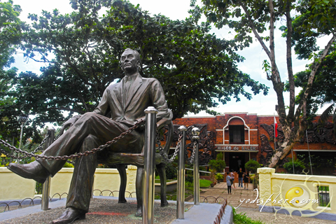 Monument of President Manuel L. Quezon in front of Baler museum