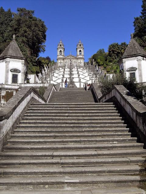 escaleras de Santuario de Bom Jesús do Monte de Braga
