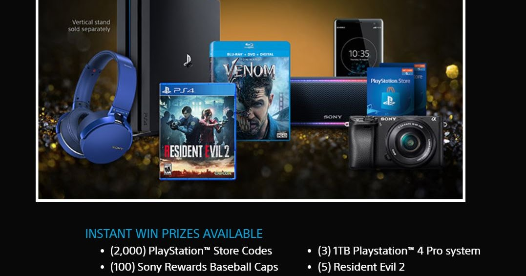 Sony Launch Party Instant Win Giveaway - 2,187 Winners  Win