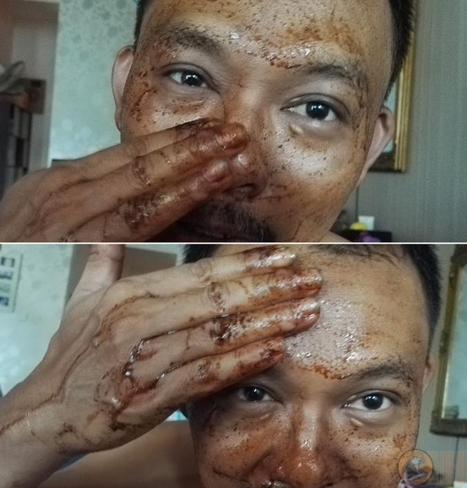 Pengalaman pakai Scrub Kopi Minyak Kelapa Dara, Wangi Dari Segobugo