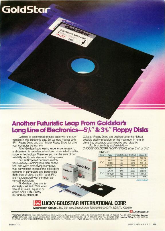 Informatica Viejuna: Diskettes de Lucky Goldstar