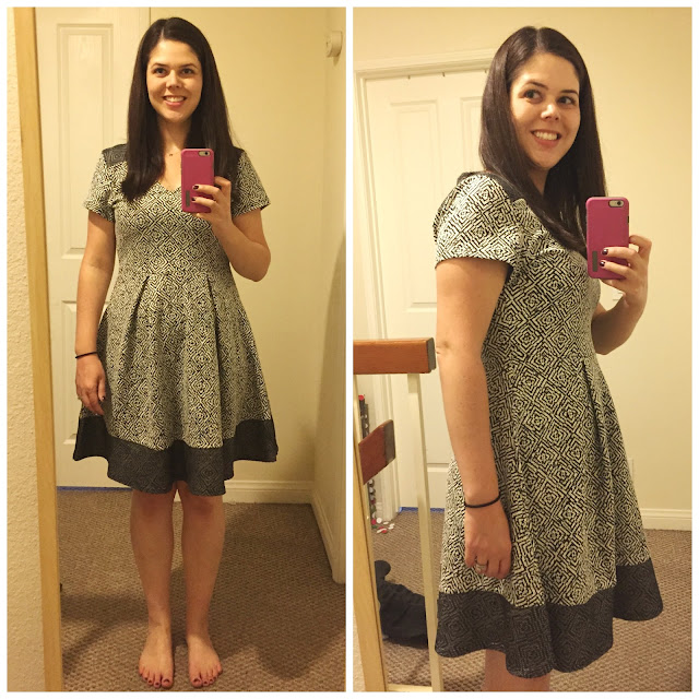 [Stitch Fix] Papermoon Morenna Fit and Flare Dress - Grey