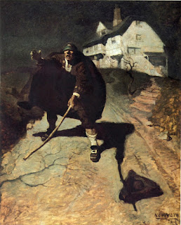 N.C. Wyeth Treasure Island Blind Pew